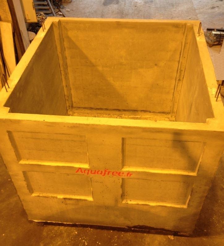 Container en béton armé de 10.700 litres