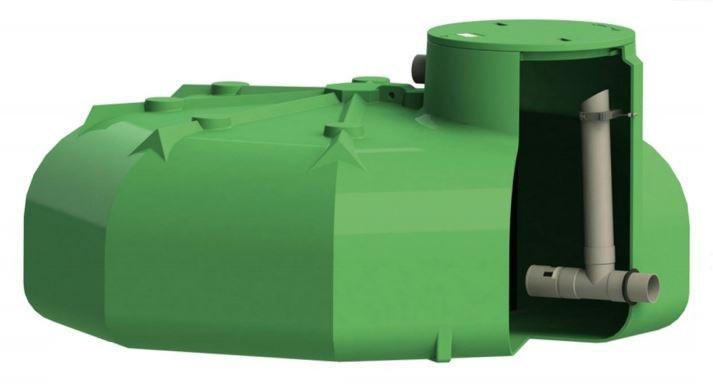 Cuve PEHD plate de 3000 litres pour régulation d'eaux pluviales (hauteur 1,10 m)