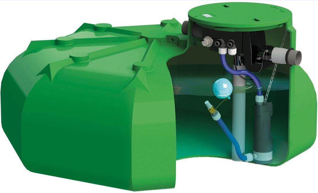 Cuve eau de pluie plate PEHD